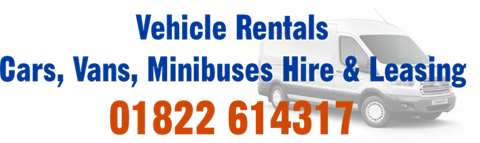 For Car Rental, Van Rental and Minibus Rental Call Rentafford 01822 614317